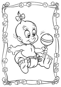 baby coloring pages for girls | Beginning and expert crafting enthusiasts enjoy working with the ...