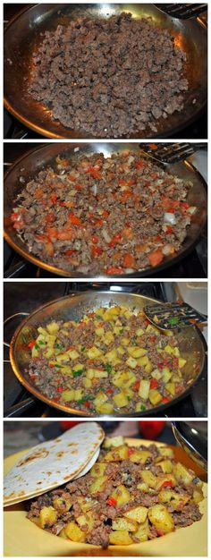 Ingredients  1lb lean ground beef  2 medium russet potatoes, peeled and diced into 1/2inch cubes  1/2 cup yellow onion, diced fine (1/4 i...