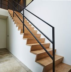 Metal Stair Railing, Banisters, Stair Treads, Home Stairs Design, Door Design, House Design, Staircase Remodel, House Stairs, Stairways