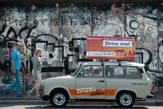 GDR Trabi car in front of Berlin Wall at East Side Gallery Safari, Website Home Page, East Side Gallery, Germany Berlin, Berlin Wall, Photojournalism, South Africa, Europe, Car
