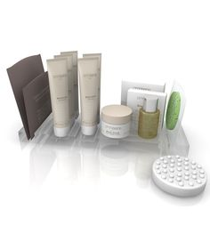An elegant hotel amenity line enriched with white tea extracts comprising 5 tubes, 3 soaps including a massage soap and a glycerine exfoliating soap, bath salts in a sachet, 20ml bottle of dry oil (Reflets de Soie ®, Omnisens best seller) and a delicately scented hand cream in a 30ml pot. Omnisens is also available in ECOSOURCE airless dispenser. Natural cosmetic formulas, no parabens, colouring agents, silicon, ionising treatment, mineral oil or GMO's.