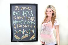 Mommy's Little Sunshine: Weekly Baby Bump Tracker