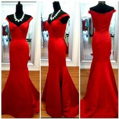 Mermaid Red Satin Long Evening Dresses Formal Pageant Prom Party Bridal Gowns | Clothing, Shoes & Accessories, Women's Clothing, Dresses | eBay!