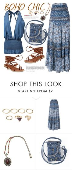"""Boho"" by beebeely-look ❤ liked on Polyvore featuring Forever 21, See by Chloé, maxiskirt, boho, springsummer, Bohemian and sammydress"
