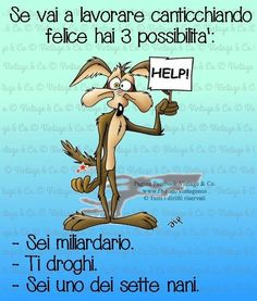 La seconda Funny Animal Pictures, Funny Images, Funny Cartoons, Funny Jokes, Jokes Quotes, Memes, Italian Quotes, Snoopy, Good Morning Good Night