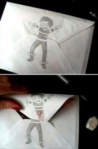 funny envelopes. I Am doing this for my BFF