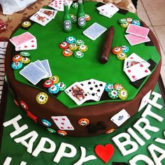 A poker theme cake made for my husband birthday