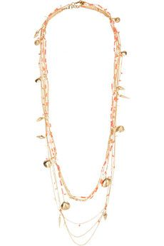 Rosantica La Sabbia gold-tone, agate and quartz necklace | NET-A-PORTER