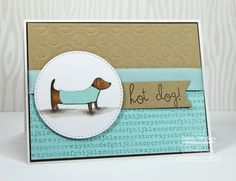 Hot Dog! card by Debbie Carriere