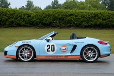 Porsche Boxster 2013 Gulf Racing livery