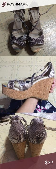 Snake skin print wedges Snake skin print wedges Shoes Wedges