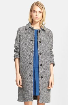 A.P.C.+'Manteau+Peel'+Long+Tweed+Coat+available+at+#Nordstrom