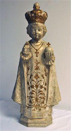 Infant of Prague - Religious Statue - Christian Catholic Baby Jesus Menino De Praga. $75.00, via Etsy.