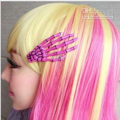 Wholesale Free shipping -2013 new 10pcs New Item Hand bones Shape Hair Clips Glow in the Dark Barrettes Clamps Fashion Jewelry, Free shipping, $0.81/Piece | DHgate Mobile