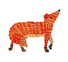 Adorable Fox Photographic Print Orange Art, Red Art, Nursery Paintings, Nursery Art, Framed Prints, Canvas Prints, Art Prints, Original Artwork, Original Paintings