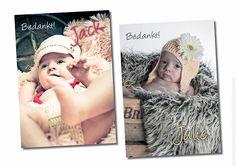Bedankkaartjes, fotoshoot in fotostudio  © de fotoboetiek / www.twindesignbvba.be