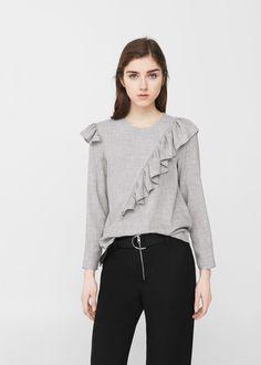 Decorative ruffle blouse -  Women | MANGO USA