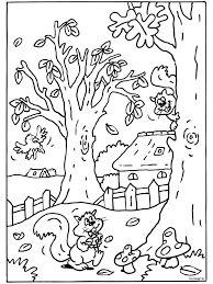 Afbeeldingsresultaat voor kleurplaat herfst peuters