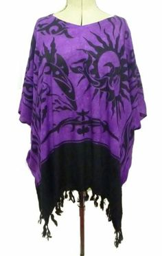 boho tunic top poncho Celtic tribal blouse 16 18 20 22 24 26 beach free size | eBay