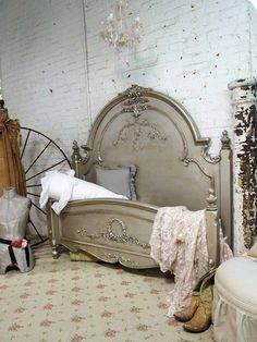 """Romance .... king size bed made into a twin day bed with trundle, very """"Royal Princess"""""""