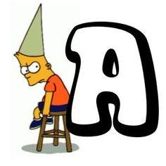 Alfabeto de Bart Simpson.