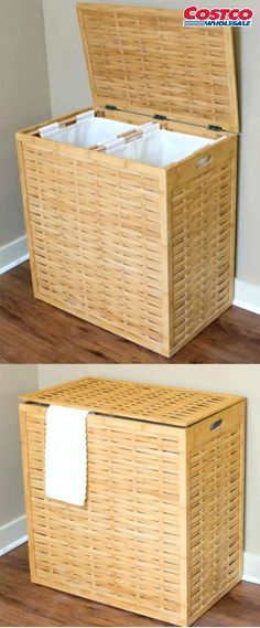 Awesome BirdRock Home® Over Sized Bamboo Divided Hamper. Keep Your Laundry Neat And  Organized With The BirdRock Home® Divided Hamper. This Oversized Hamper Is  Made ... Good Ideas