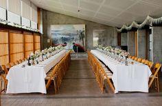 Handmade Australian Wedding: Leah + Tim...i like how simple and classy this set up is