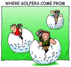 Where golfers come from - hatched straight from the balls left un-found in the hazards