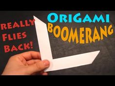 How to Make an Origami Boomerang - Rob's World - YouTube