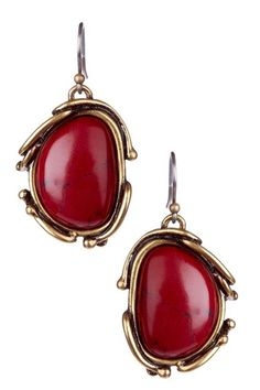 Red Calcite Drop Earrings by Lucky Brand on @HauteLook
