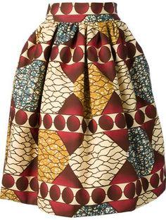 African print - versatile skirt ~Latest African Fashion, African Prints, African fashion styles, African clothing, Nigerian style, Ghanaian fashion, African women dresses, African Bags, African shoes, Kitenge, Gele, Nigerian fashion, Ankara, Aso okè, Kenté, brocade. ~DK