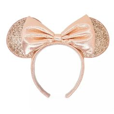Disney Parks Minnie Mouse Bow Icon Ears Reversible Sequin Keychain NEW