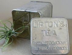 Vintage Tea Tin Lipton Tea by PacificWhim on Etsy, $15.00 Lipton, Tea Tins, Vintage Tea, High Tea, Tea Party, Crafty, Ecology, Kettle, Creative