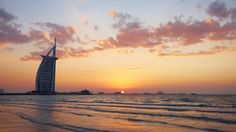 Burj Al Arab Hotel at Sunset, Dubai, United Arab Emirates
