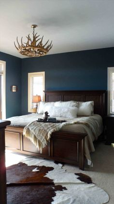 New Post Farmhouse Master Bedroom With Dark Furniture Visit Bobayule  Trending Decors
