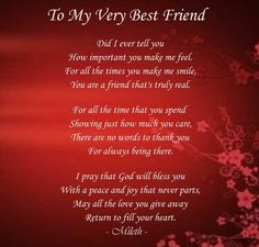 My Best Friend Poems Friendship | To my very best friend photo Tomyverybestfriend.jpg