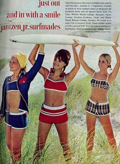 Super Vintage Outfits For Teens Bathing Suits Ideas Retro Outfits, Outfits For Teens, Vintage Outfits, Vintage Clothing, Vintage Swimsuits, Two Piece Swimsuits, Bikini Vintage, Retro Swimwear, 1960s Fashion
