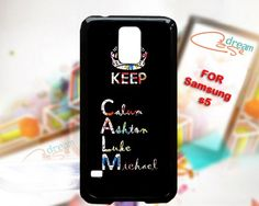 Keep calm 5Sos art - design for Samsung Galaxy S5 Black case