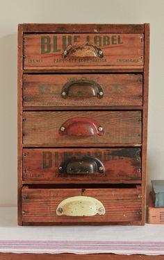 Multi Drawer Desk Organizer from Repurposed Vintage by seelamade