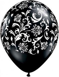 Ballon Baroque Noir / Blanc Décoration Mariage (lot de 5) par Un Jour Spécial : accessoires & décorations de mariage