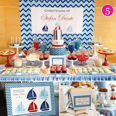 Nautical Christening - Hostess with the Mostess®