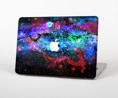 """The Neon Colored Paint Universe Skin Set for the Apple MacBook Pro 15"""" with Retina Display from Design Skinz"""