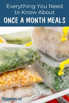 Wouldn't it be nice if you could have all your dinners for the month safely tucked away in your freezer so you didn't have to panic at mealtime? That's where Once A Month Meals comes in! Couponing 101, Save On Foods, Easy Food To Make, Money Saving Tips, Meals, Dinners, Frugal, Coupons, Meal Planning
