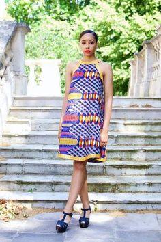 Modern African print dresses to be satisfied about your look Modern African Print Dresses, African Dresses For Women, African Women, African Inspired Fashion, African Fashion, Women's Fashion, Shweshwe Dresses, Ankara Dress, Strings