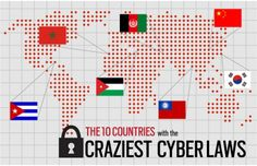 The 10 Countries with the Craziest Cyber Laws http://www.complex.com/tech/2010/09/more-like-internot-the-10-countries-with-the-craziest-cyber-laws/