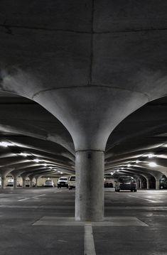 Melbourne University underground carpark