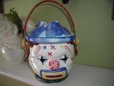 VINTAGE 1930s LIPPER & MANN CLOWN COOKIE JAR