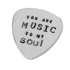 You are music to my soul guitar pick | Music lover gifts | Off to college gift ideas for boyfriend