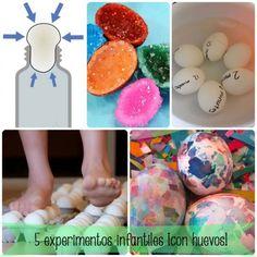 5 experimentos para niños ¡con huevos!
