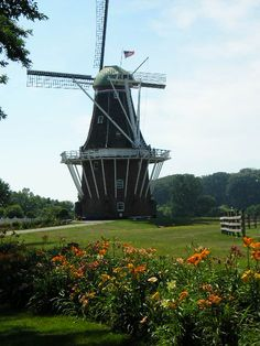 De Zwaan Windmill,Holland, MI. It was first was erected in Krommenie, near Amsterdam, Noord Holland in 1761. After suffering damage in WWII, the Dutch government decided to sell it for $2800, making De Zwaan the last windmill to leave the Netherlands. In October, 1964, De Zwaan arrived aboard the Prins Willem van Oranje. It was unloaded at the Muskegon harbor and transported by truck to Windmill Island in Holland. It took approximately 6 months to reconstruct the mill.